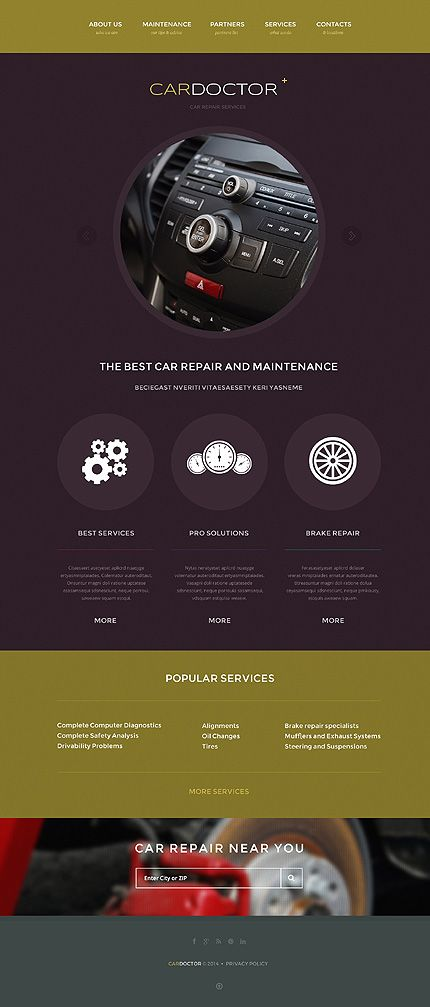 Template 47923 - Car Doctor  Responsive Website Template