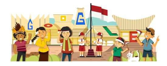 Indonesia Independence Day 2014. google doodle