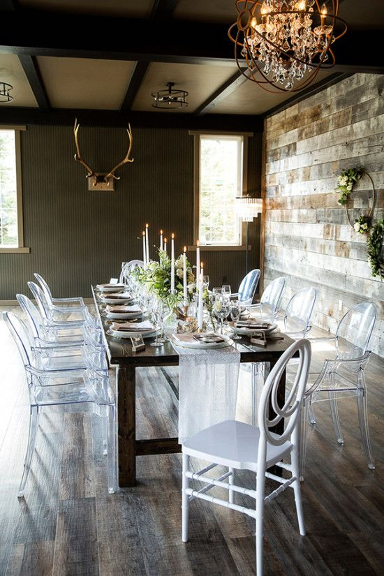 Modern rustic wedding venue in the Canadian Rockies | Modern rustic wedding from Naturally Chic | Photo Kim Payant Photography | Flowers Willow Flower Co.| Dress Pearl and Dot| Hair and Make up Industry Hair and Make up | Venue Creekside Villa Canmore. #canmorewedding #canmoreweddingplanner