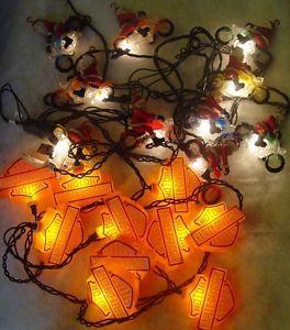 2 sets of harley davidson biker santa christmas tree lights ebay - Ebay Christmas Trees
