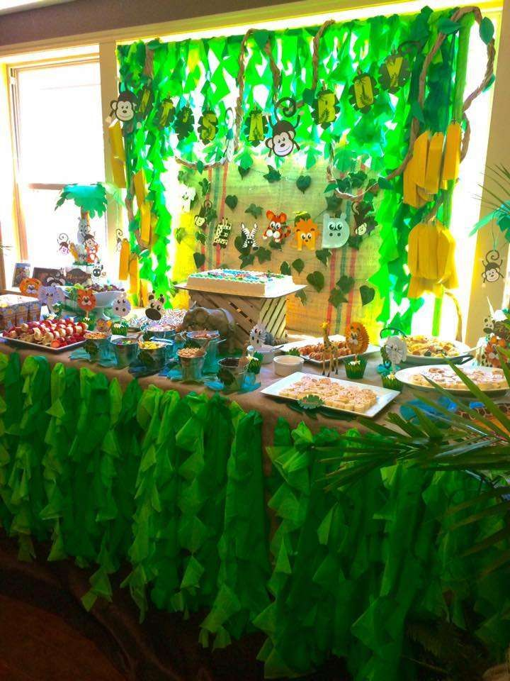 Jungle Baby Shower Party Ideas Baby Shower Baby Shower Themes