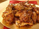 Sesame Chicken Drummettes -- so good and the meat-eating kid loved them!
