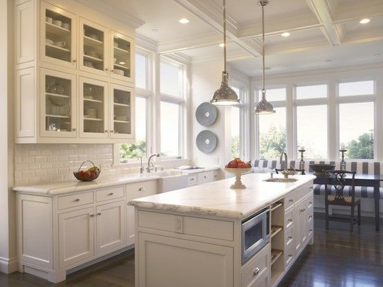 A Little Plain But Nice No Glass In Cabinet Doors Like Coffered Ceiling Globes On Lights Instead Of Metal Overall San Francisco Kitchen