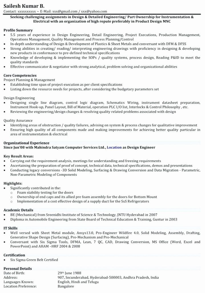 Mechanical Engineer Resume Sample Lovely Mechanical Engineer Resume Examples Emelc Mechanical Engineer Resume Resume Template Professional Engineering Resume