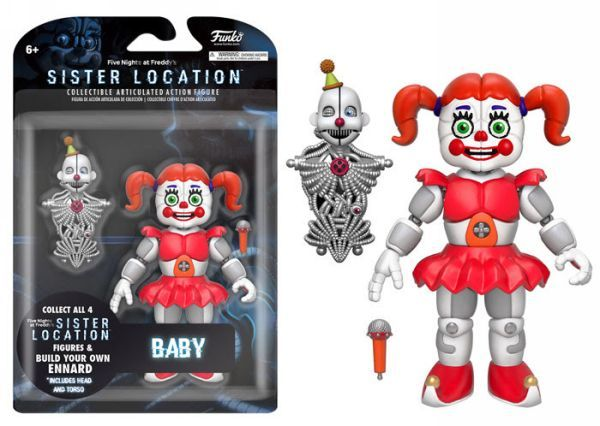 "Five Nights at Freddy's FNAF Sister Location: Baby 5"" Articulated [Action Figure] by Funko, Kirin Hobby"