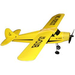 @Overstock - Radio Control J-3 Cub Airplane Can takeoff from the Ground High, low speed selectable, left and right flappable vertical fin, controlling left and right turns http://www.overstock.com/Sports-Toys/J3-Cub-Remote-Control-Plane/6230503/product.html?CID=214117 $63.35