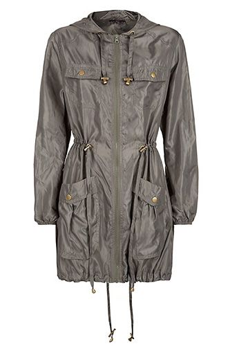 20 Rain Slickers That'll Keep You Dry And Chic — Promise! #refinery29  http://www.refinery29.com/51575#slide5   New Look Khaki Tie Waist Lightweight Parka, $28, available at New Look.
