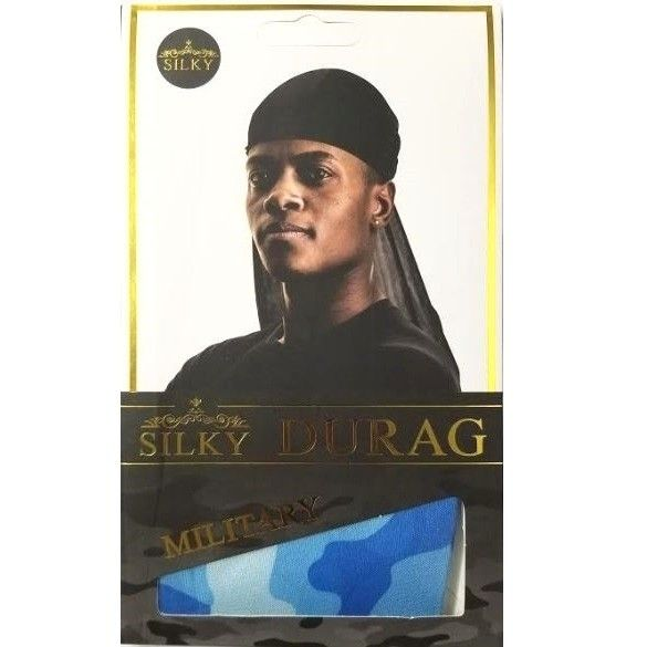 Military Camo Silky Durag Camo Royal Blue Salon Supplies Silky Beauty Supply