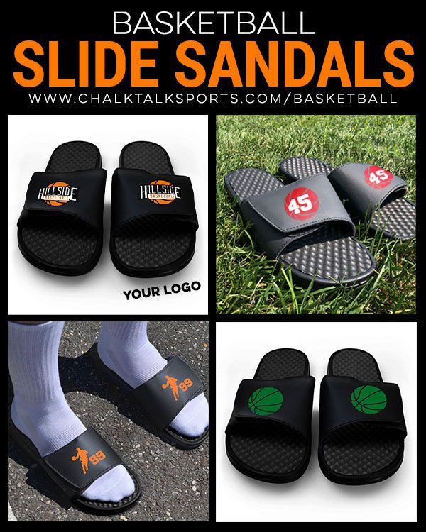 Basketball slide sandals are a great