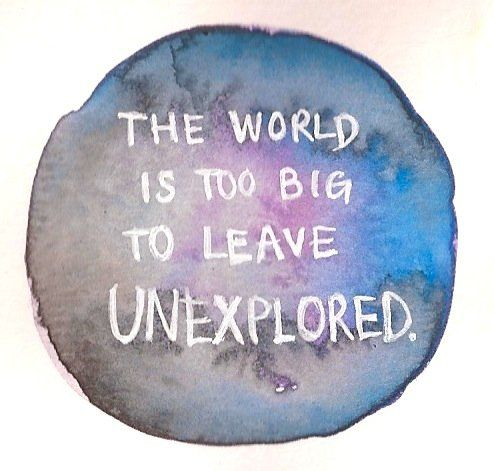 """""""The world is too big to leave unexplored""""  www.iesabroad.org #studyabroad #travel"""