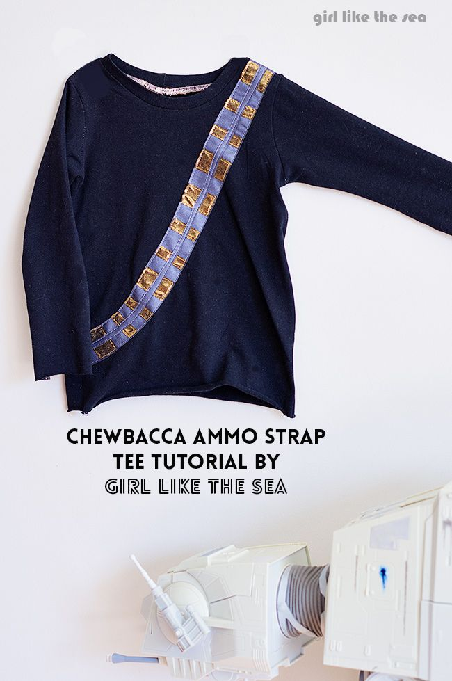 How to make a Chewbacca T Shirt - DIY - I know it's for kids but it's pretty sweet!