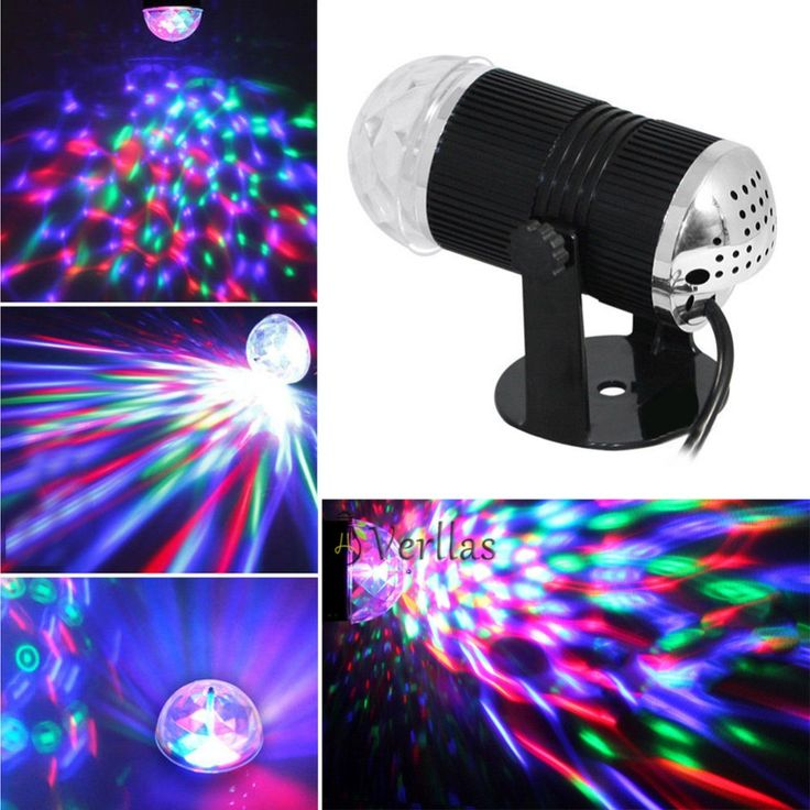 Lumiere RGB LED Music Stage Lights 110-240V DMX Disco Club DJ Light Show Bulb Pr…