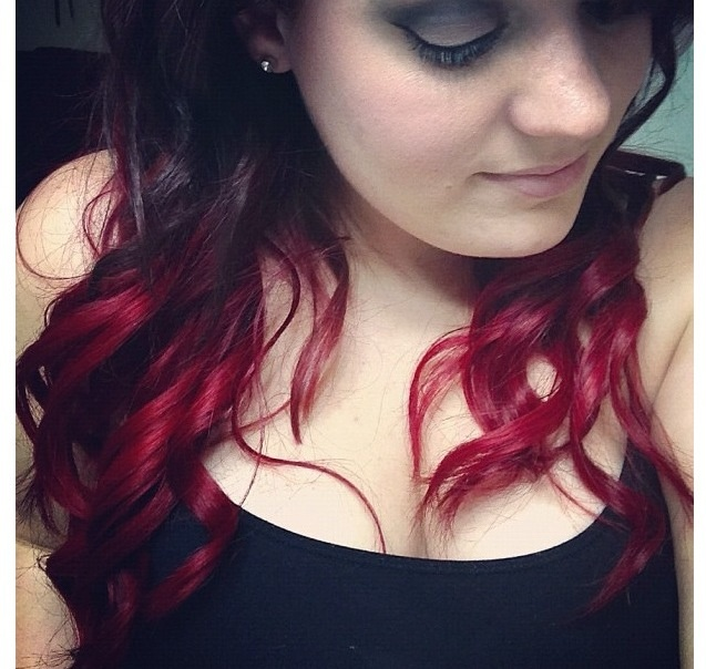 Black to red ombre   for the dark strip Black To Red Ombre