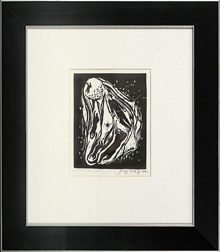 Jerzy Duda Gracz | JUDAICA VI, 1964| drzeworyt, papier | 14.8 x 11.3 cm