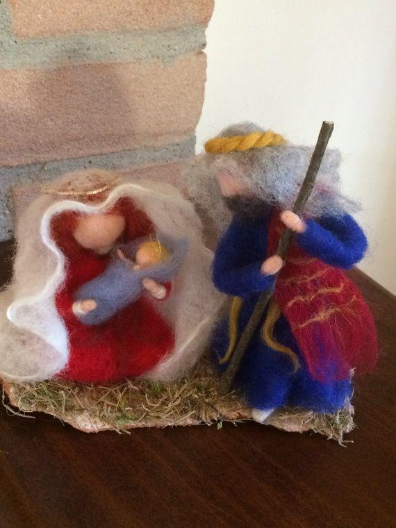Needle felted Nativity dolls Waldorf inspired Wool by DreamsLab3