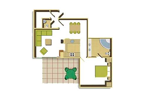 One Bedroom Floorplan Example