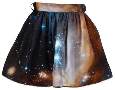 celestial skirt! love it. designed by christopher kane.