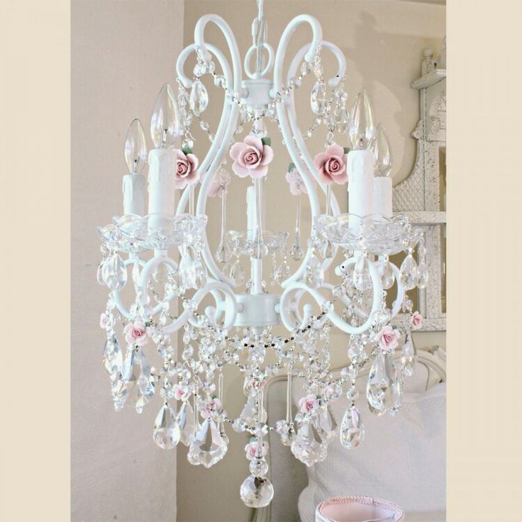 43 Best Images About Shabby Chic Chandeliers On Pinterest
