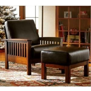 Leather Craftsman Mission Morris Recliner Chair by HorizonCustomHomes