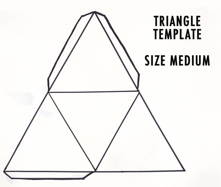 Triangle paper temple google keres s cutting for Triangle packaging template