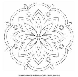 Rangoli Colouring Pages | Diwali Activities for Kids