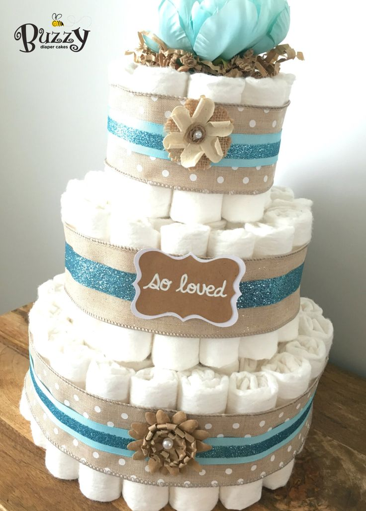 cake boy baby shower shower centerpiece rustic boy diaper cakes