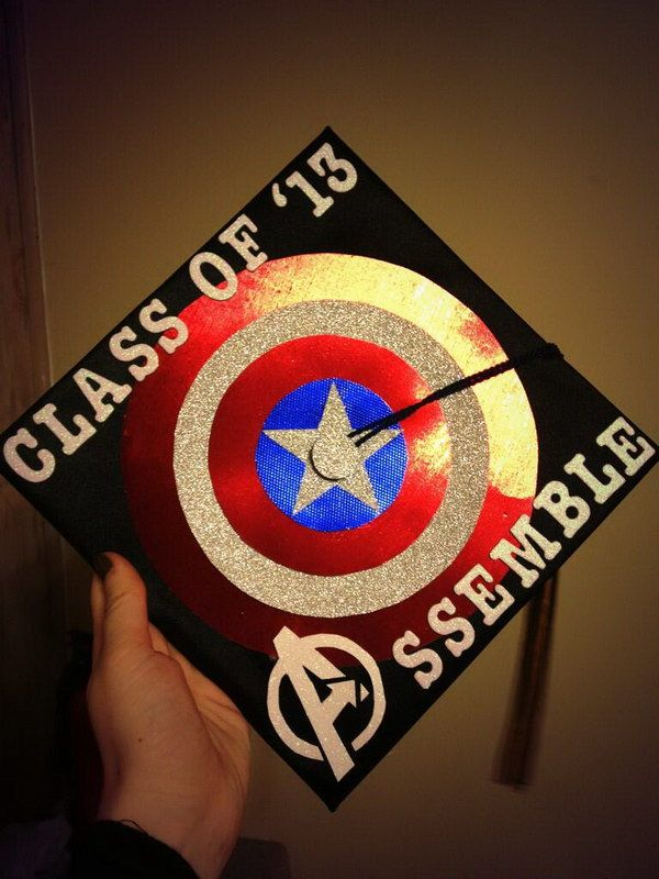 50 Awesome Graduation Cap Decoration Ideas, http://hative.com/awesome-graduation-cap-decoration-ideas/,