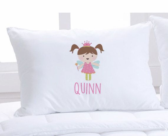 Personalized pillow case, Princess pillow case, Kids birthday present, Kids pillowcase with name, Princess Bedding, Personalized pillow case  Your Little Princess will Love this personalized pillowcase! This super soft Standard Size pillowcase is personalized JUST FOR YOU! These make amazing gifts that are unique, practical and ADORABLE! - Pillow Cases are 20.5 x 30 fits a standard size pillow case. - Pillow Cases are a SUPER soft moisture wicking microfiber blend material - The image is…