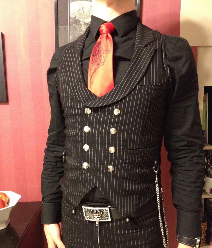 Vest: Gangsta Pranksta by Lip Service  Tie: Victorian Gears by Cyberoptix  Shirt: Express