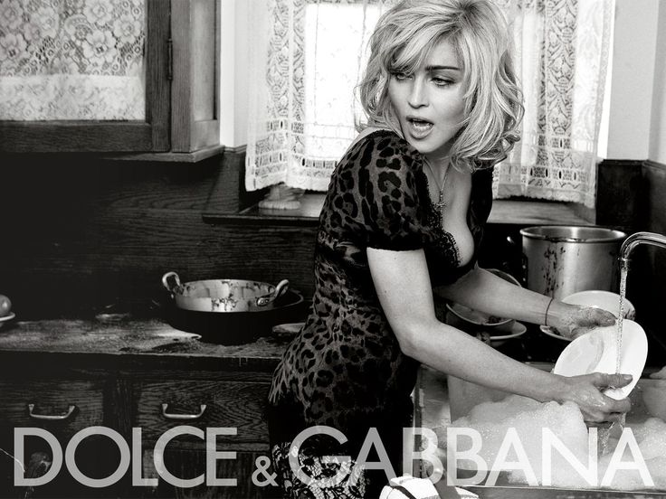 Dish washing can't be a tedious task. (Madonna for Dolce)