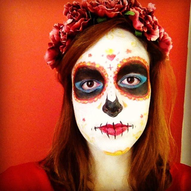 Sugar skull makeup! Makeup Artist:me :)  #makeup #catrina #mua