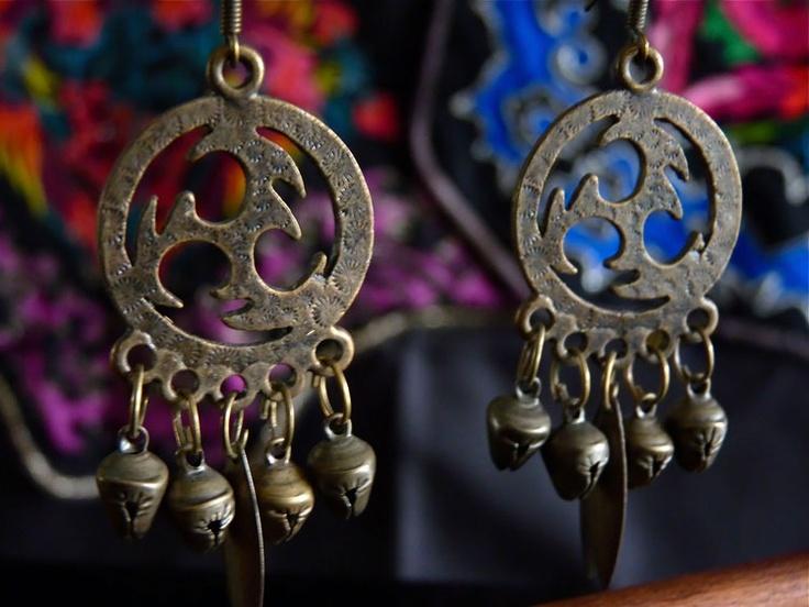 Bijoux Ethnique Boucles d'oreilles chez Maï Kimiko (accessoires de mode ethnique chic)