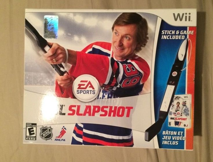 NEW SEALED NHL Slapshot Wii Game w/ Hockey Stick Boxed Bundle RARE nintendo, For Sale  -- Currently Available for purchase on Ecrater.com