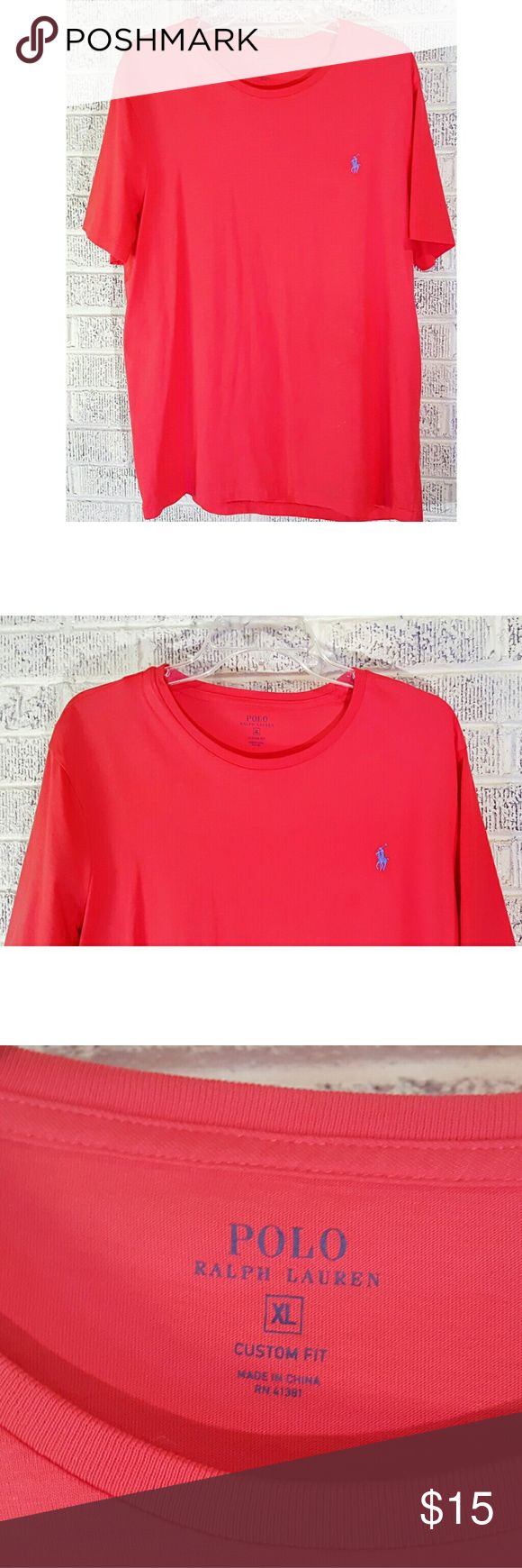 Polo Ralph Lauren Crew Neck Logo T Shirt Polo Ralph Lauren Crew Neck Logo T Shirt Men's Size XL I believe this is Peach in color maybe. Close. Its bright. Measurements on Request Excellent Like New Condition Condition Rank 9.5/10 No tags Pre Owned This T was mine. I literally tried it on, it was way too big and took it off. I may have had it on for 30 sec.  Thanks We Ship Fast Updating New Items Daily Ralph Lauren Shirts Tees - Short Sleeve
