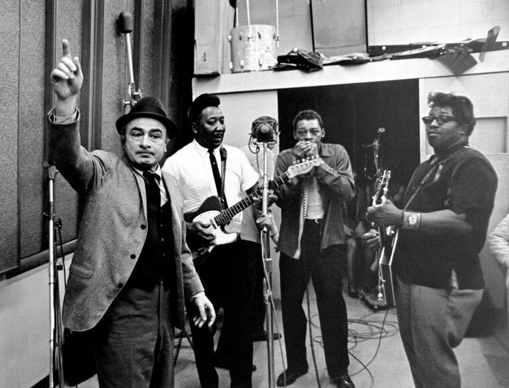 co-founder of Chess Records Phil Chess, Muddy Waters, Little Walter and Bo Diddley