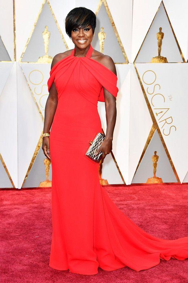 Viola Davis in Armani Prive at Oscars 2017, Виола Дэвис в Armani Prive Оскар 2017