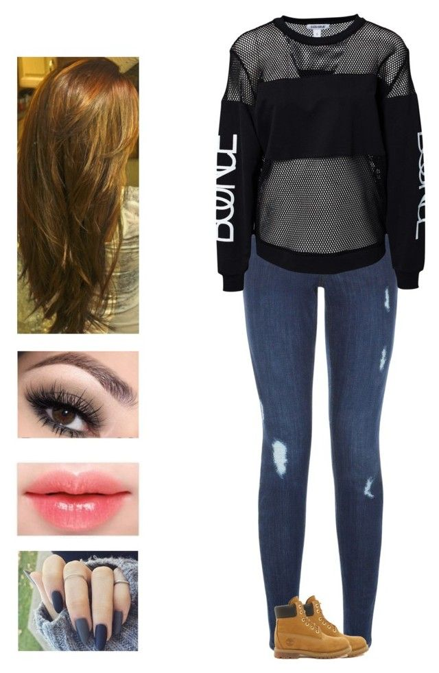 Red Velvet - Russian Roulette by kyndraxsvt on Polyvore featuring polyvore fashion style Estradeur New Look Timberland clothing