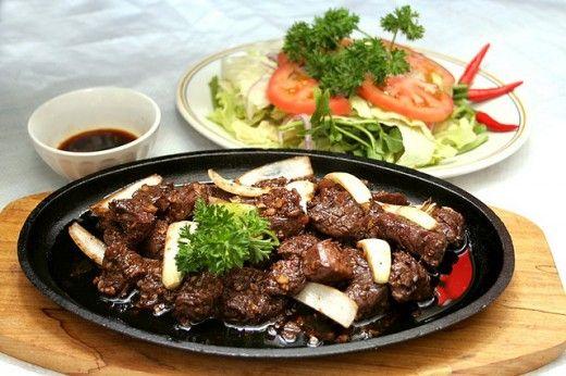 Bo Luc Lac + Vietnamese Cuisine  (Shaken seasoned cubed beef)