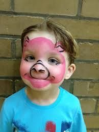 pig face paint - so there are not any really nice pig faces out there, I'll have to wing it!