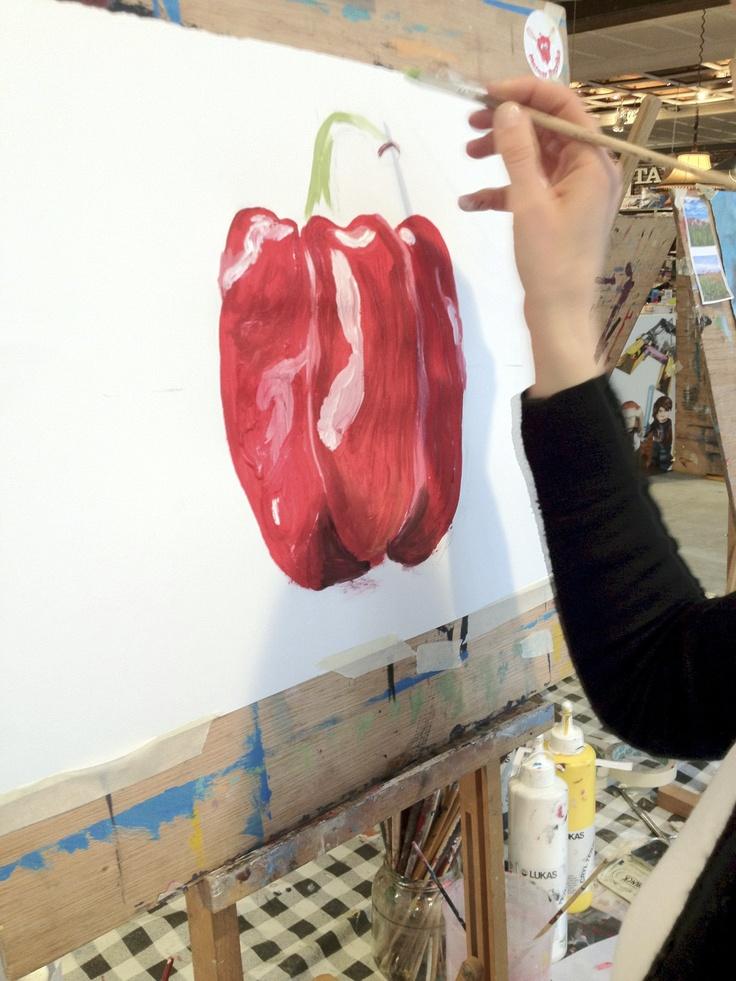 Stefanie schildert de paprika