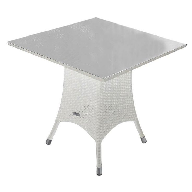 Mary Zebra Möbel Gartentisch Snowwhite 70x70 cm