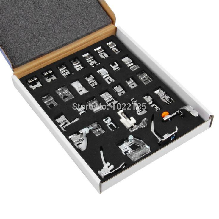 32 шт. швейные машины ноги установить универсальный плетение / подшивочная / Darnign ног купить на AliExpress