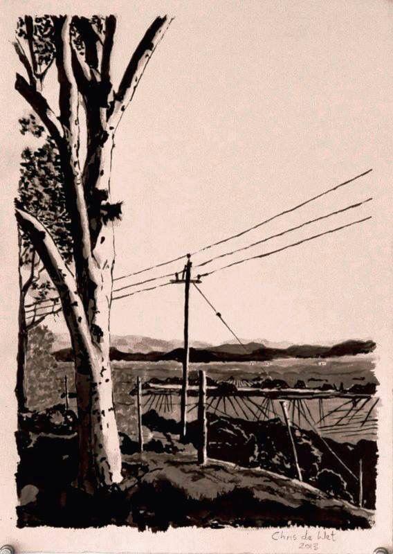 McGregor Landscape - Ink on Fabriano
