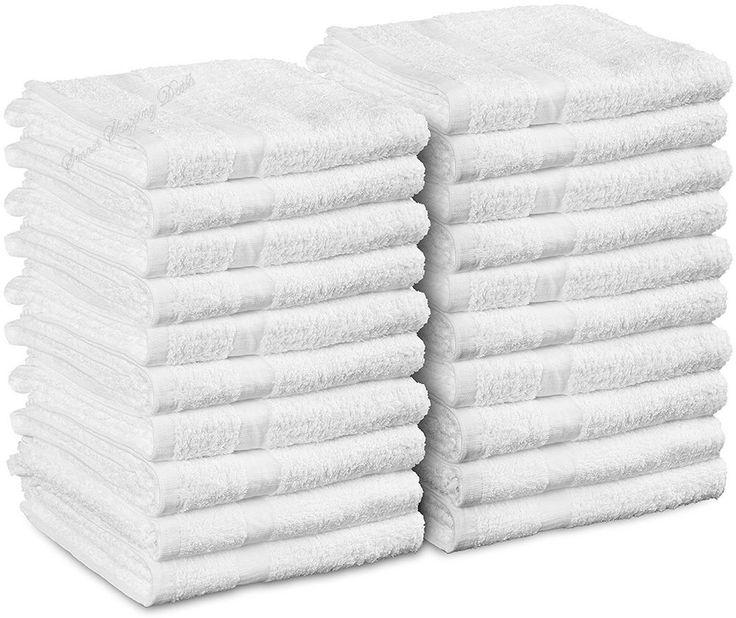 24 Pack Cotton Salon Towels White Hand Towel 16 x 27 Inches Machine Washable  #UtopiaTowels