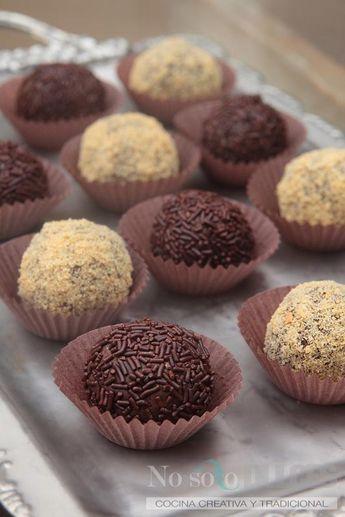 Una receta de trufas de chocolate muy sencilla, para todos los públicos con sólo 3 ingredientes.
