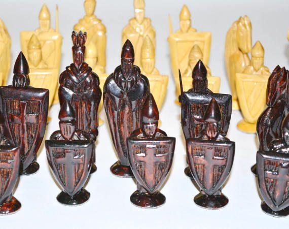 Chess set Vintage handmade wooden chess. от GiftShopUkraine
