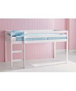 Kendall Mid Sleeper Single Bed Frame - White.