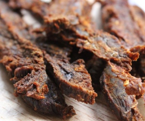 Homemade Paleo Beef Jerky -- A great snack made without soy, sweeteners, or additives!