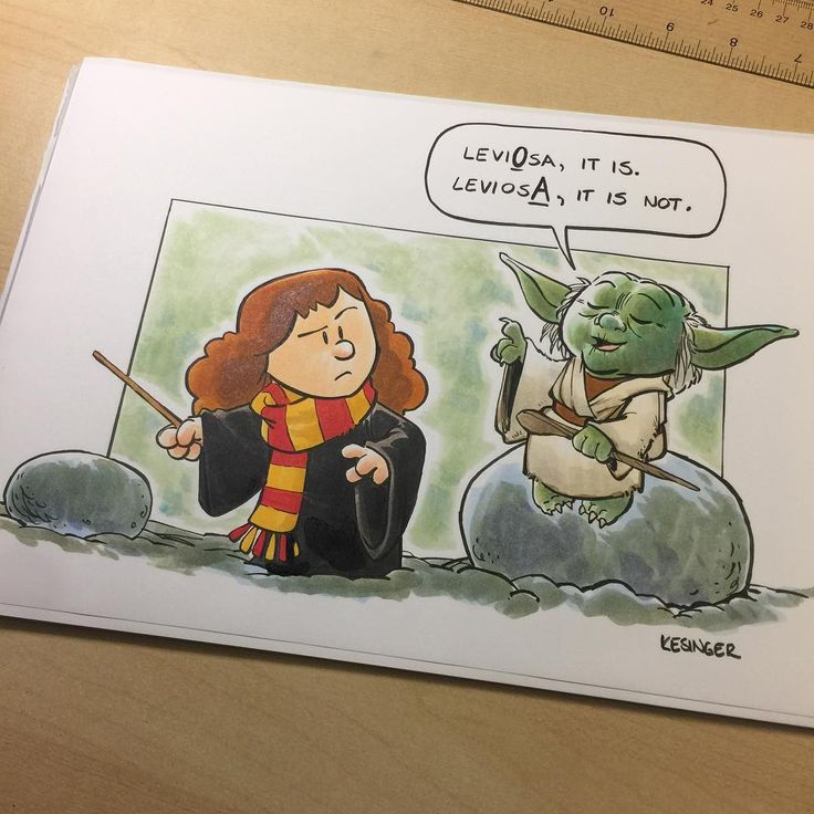 "9,816 Me gusta, 120 comentarios - @briankesinger en Instagram: ""Hermione isn't too impressed with her substitute teacher. Commissioned #harrypotter and #starwars…"""