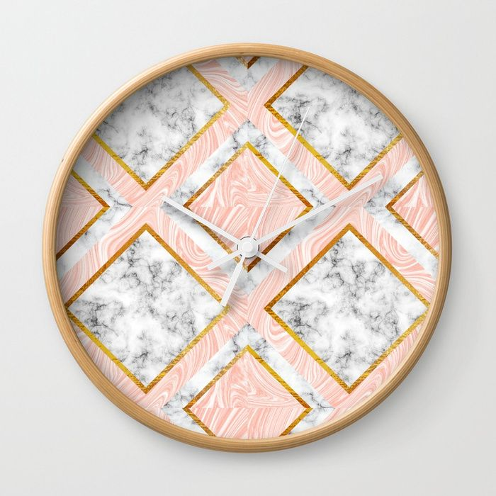 Buy Gold and marble Wall Clock by annartshock. Worldwide shipping available at Society6.com. Just one of millions of high quality products available.